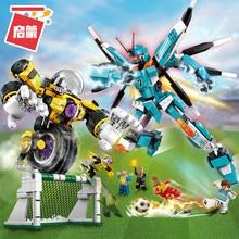 Original Iluminai Blocos Brinquedos De Construção Engraçado Jogos de Futebol Modelo de Robô Brinquedos de Blocos de Construção de construcao Para Birthady Presente