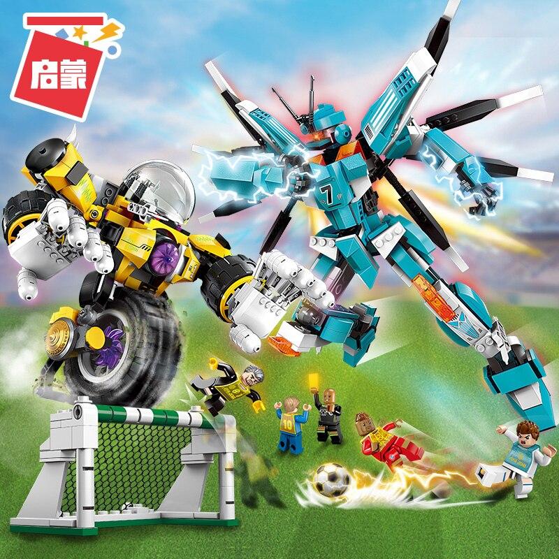 original iluminai blocos brinquedos de construcao engracado jogos de futebol modelo de robo brinquedos de blocos