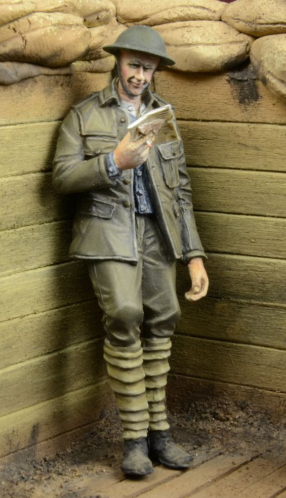pre order-Resin toys 35035 - WWI British Infantryman reading a letter Free shipping romania in wwi