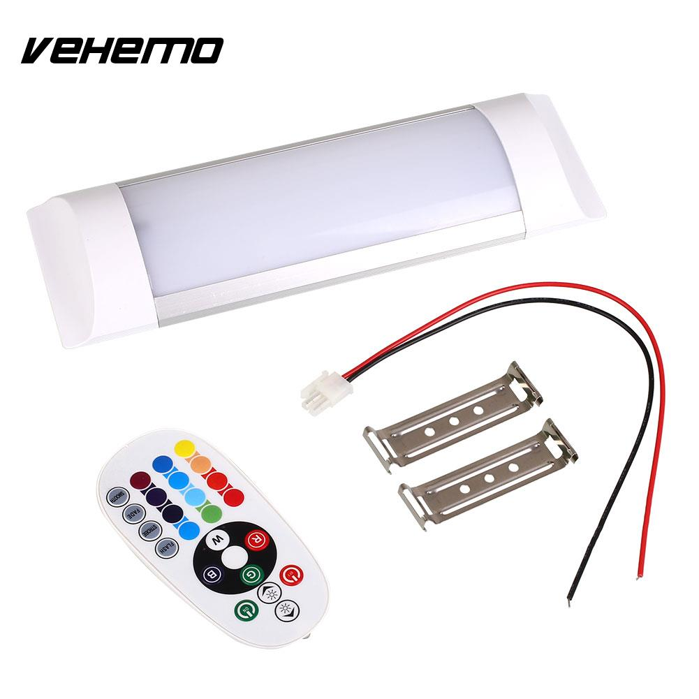 Vehemo RGB Color Changing LED Light Caravan Motorhome Houseboat Lamp with 24-Key Remote
