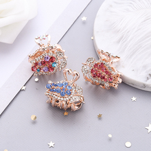 New crystal rose flower Hair crab claw Clips rhinestone Hairpins for Womens girl Princess flowers Tiara Barrettes Accessories