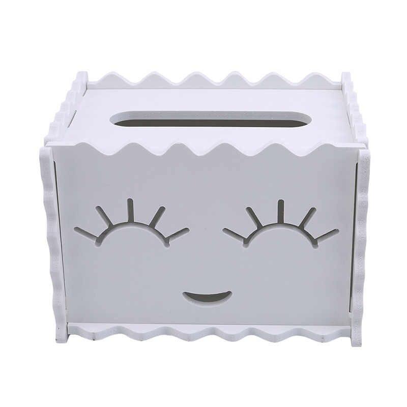 1 PC Serba-serbi Wadah Putih Desktop Organizer Rumah Penyimpanan Alat Jaringan Kotak Plastik Alat Makeup Lipstick Case