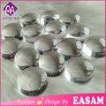 Easam stamper nail art clear jelly cabeza, cabeza de clavo estampador de silicona transparente