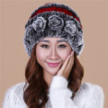 Cheap The new Rabbit fur hat lady winter thick grass Rabbit fur hat warm winter wool cap free shippingTM15