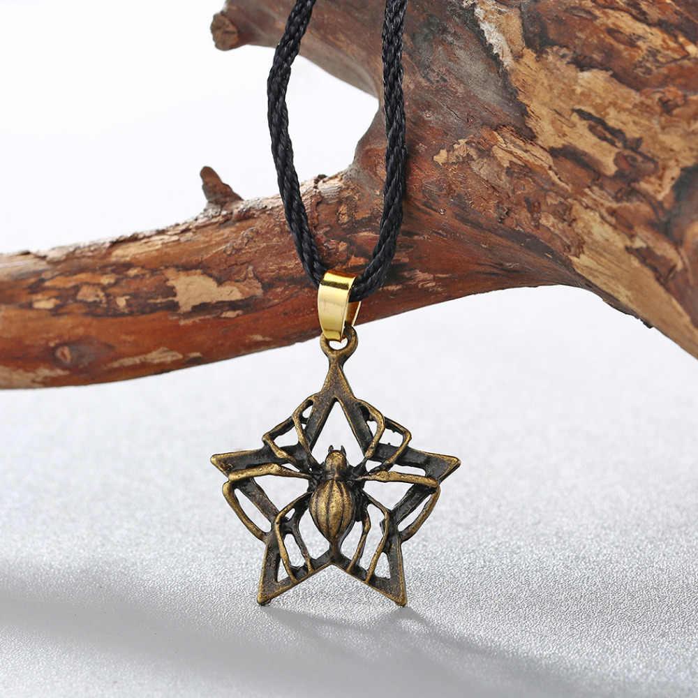 QIAMNI โบราณ Punk Cross Star Amulet Pagan Valknut ไวกิ้ง Slavic Symbol Talisman สร้อยคอจี้เครื่องประดับของขวัญ Charm