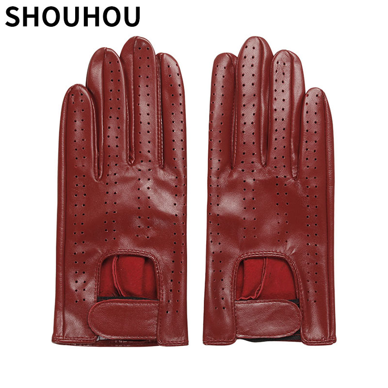 b20e197be9217 Detail Feedback Questions about SHOUHOU 2018 Women Winter Gloves Female Genuine  Leather Gloves Fashion Mesh Dancing Gloves Girls Touch Screen Gloves Mittens  ...