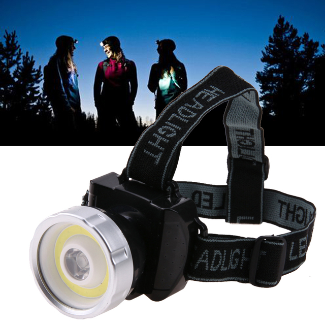 Super Bright COB LED Headlamp 2 Mode Head Light Lamp Flashlight For Hiking Camping Night Fishing Waterproof Headlamp
