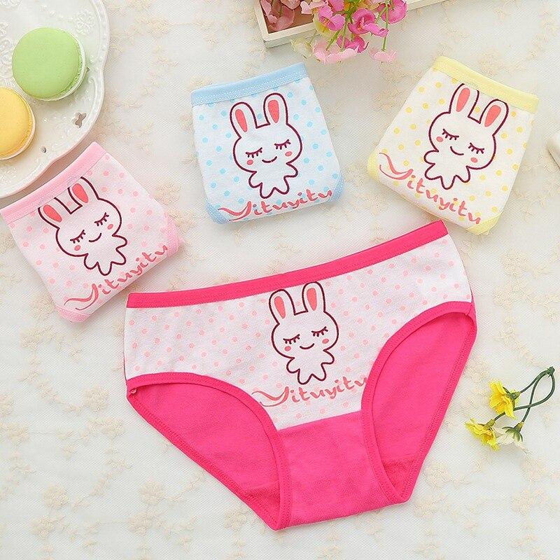 4Pcs Safe Girls Underwear Cute Cartoon Dance Girl Colorful Kids Baby Panties Childrens Underpants Kid Spring Girl Underwears