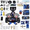 New DIY Wireless Telecontrol Three Wheeled Smart Car Robot Kit For Arduino 2 4G Freeshipping Headphones