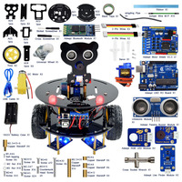 New DIY Wireless Telecontrol Three Wheeled Smart Car Robot Kit For Arduino 2 4G Freeshipping Headphones