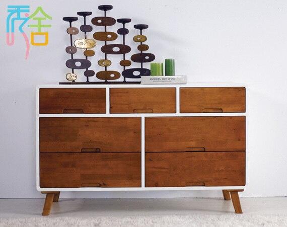 Show Homes Korean Sideboard Ikea Living Room Furniture Nordic Anese Minimalist Modern Solid Oak Entrance Cabinet