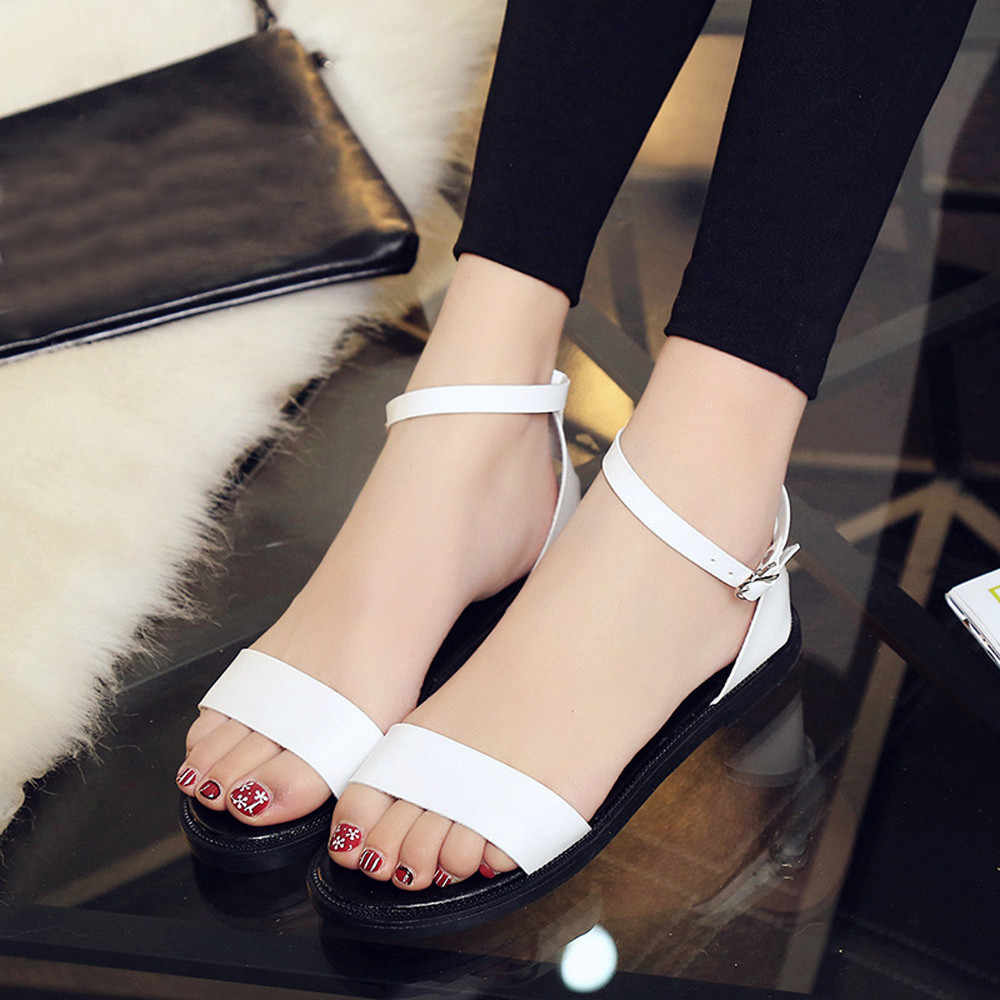 YOUYEDIAN Summer sandals sexy Women Flat Fashion Sandals Comfortable Ladies Shoes sandalias de mujer tacon y pedreria#G30