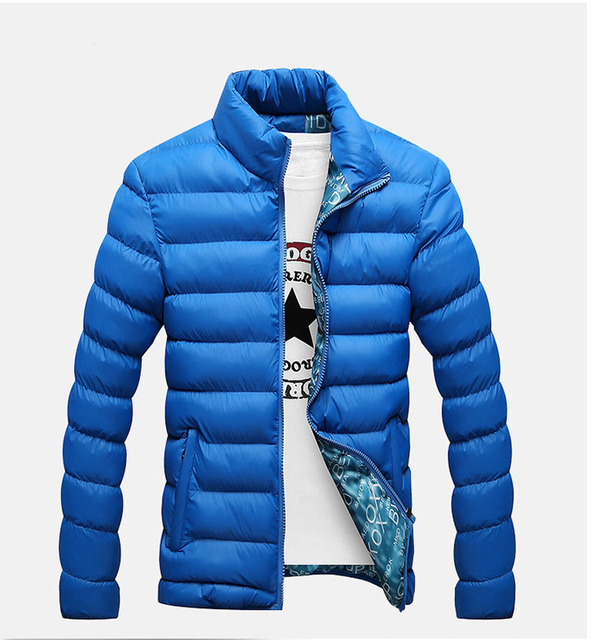 Winter 2016 new Thicken Down&Parkas jacket men fashion zipper pocket stand collar men's winter jacket