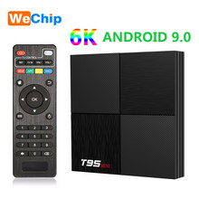 Wechip 6K T95 Mini Android 9.0 Smart TV Box Allwinner H6 Hỗ Trợ 2.4GHz Wifi GB RAM 16GB quad Core Set Top Box PK TX6 đa Phương Tiện(China)