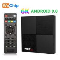 Wechip 6K T95 Mini caja de TV inteligente Android 9,0 Allwinner H6 apoyo WiFi de 2,4 GHz 2GB 16GB Quad Core Set Top caja de paquete de TX6 reproductor de medios