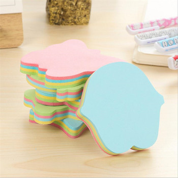 1PCS=100 sheet Candy ColorButterfl Sticky Notes love star  Multi Molding Cartoon Memo Pad  Instant Stickers for Office Supplies star shaped sticky notes