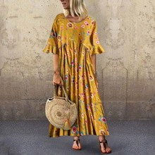 2019 Summer Women Boho Maxi Dress Floral Party Long Sundress Bohemian Casual Short Sleeve Beach Dress women floral print beach dress 2019 summer boho short sleeve ruffle long dress casual sundress elegant ladies party sashes dress