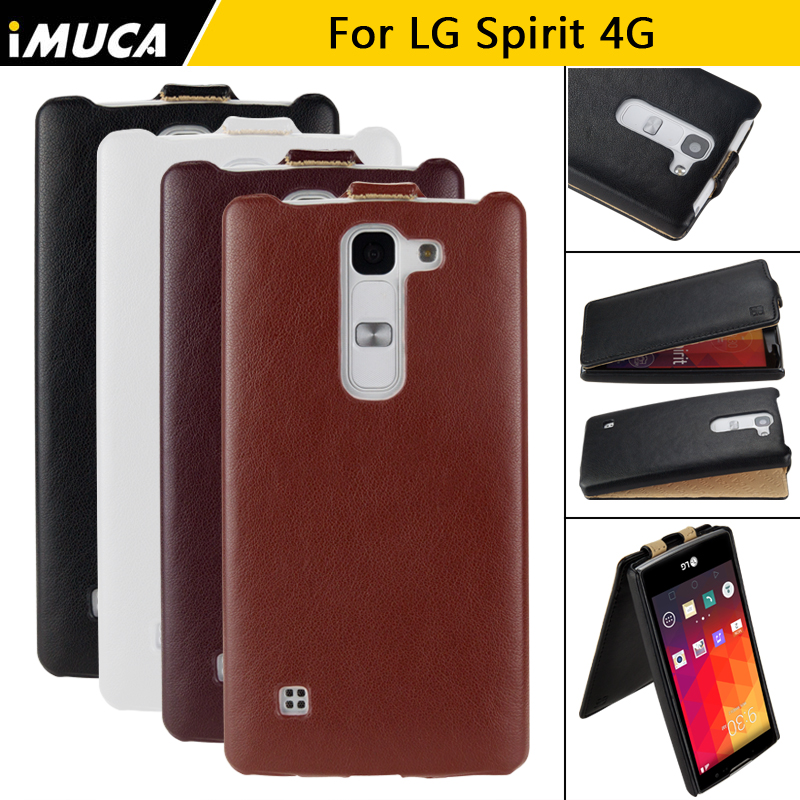 on sale ca7ae 35c31 US $10.59 |IMUCA for LG Spirit 4G LTE H422 H440Y H440N H420 case cover Flip  Spirit Smart Cases PU Leather mobile phone case black bags-in Flip Cases ...