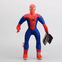 Yüksek kalite süper hero oyuncaklar plastik kafa çocuk koleksiyonu ile avengers spiderman peluş oyuncak bebekler 17