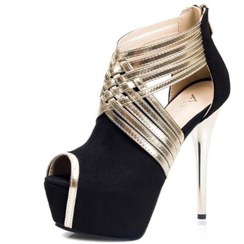 forme Pompes Haute bleu La Cheville Sandales Chaussures Parti Plate Noir Lanières Talons gris Rose À Bride rose Bleu Femmes 2018 q0R61R
