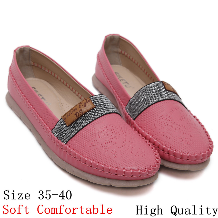 High Quality Shoes Woman Slip-On Loafers Flats Women Casual Flat heel Ladies Oxfords Shoes Soft Comfortable Plus Size 35-40 2017 fashion women shoes woman flats high quality casual comfortable pointed toe rubber women flat shoes plus size 35 42 s097