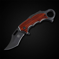 High Quality Karambit Knife Titanium Stainless Steel Scorpion Claw Folding Blade Knife Camping Tool