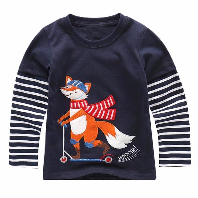 Boys Long Sleeve Shirt With Animal