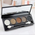 High Quality 5 Color Eyeshadow Pallet Smoky eye shadow makeup with brush mirror