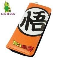 Donne Degli Uomini Lunghi Borse Portafogli Anime Dragon Ball Super Saiyan Son Goku Titolari di Carta Tasca Portamonete Cuoio DELL'UNITÀ di elaborazione di Soldi Femminili borsa