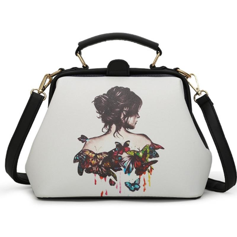 Women Handbag Leather Shoulder Bag Women Crossbody Handbag Feminine Doctor Bag Rivets Female Fashion High Quality Women Bags shoulder bag