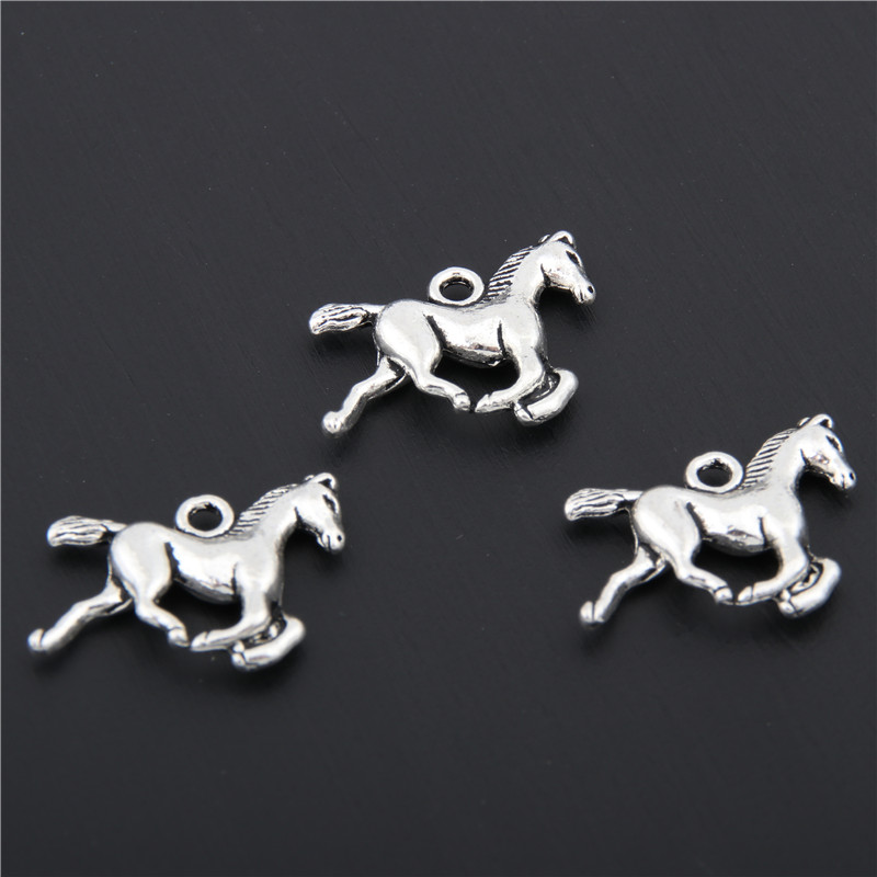 25pcs Tibetan Silver Animals Horse Charms Pendants Jewelry Making DIY Craft Charm Handmade Crafts A2418