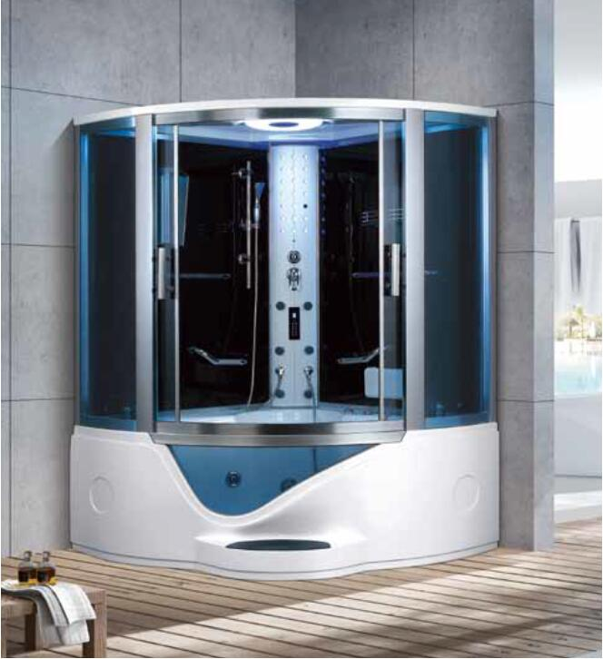 1500X1500X2250mm Double Person Bathroom Steam Shower Enclosure Mult-Functional Computer Control Wet Sauna Room 7028 luxury steam shower enclosures bathroom steam shower cabins jetted massage walking in sauna room rs550