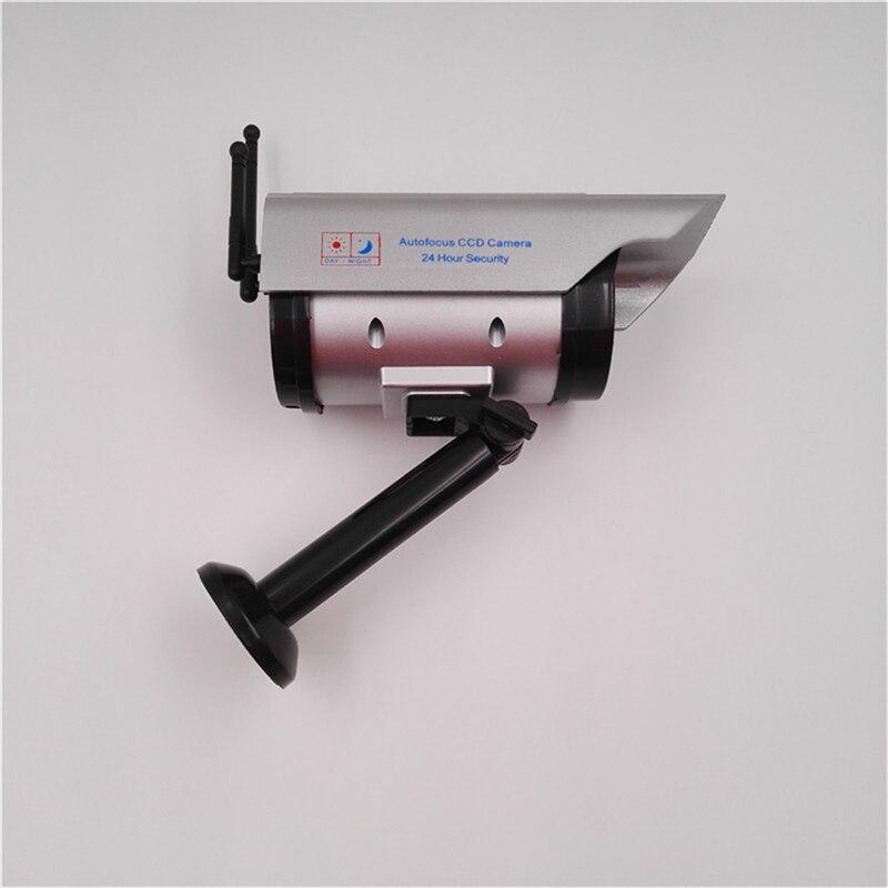 OWGYML énergie solaire en plein air Factice caméra CCTV Avec Clignotant lumière led Faux Caméra de Sécurité Extérieurs pour La Maison Caméra de Surveillance CCTV