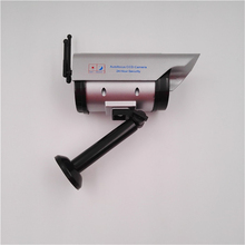 OWGYML Outdoor Solar Power Dummy CCTV Camera With Flashing LED Light Fake Camera Security Outdoor Home CCTV Surveillance Camera