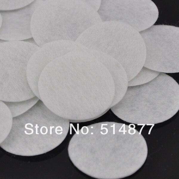 White  Free Shipping 100pcs Felt 40mm Circle Appliques