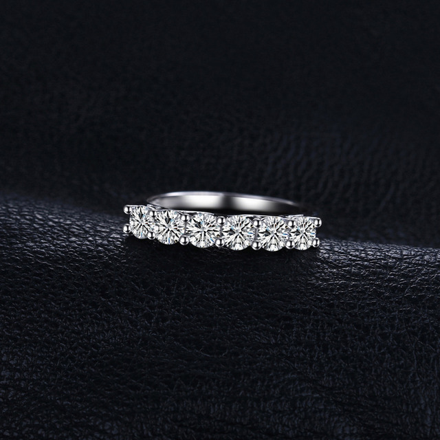 JewelryPalace Cubic Zirconia Wedding Bands 925 Sterling Silver Eternity Rings Promise Anniversary Engagement Rings for Women