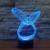 7 Ambiente de Vacaciones de color Decorativo regalo de Los Cabritos Ilusion Abstracción Estilo 3D LED Luz de La Noche de Fantasía