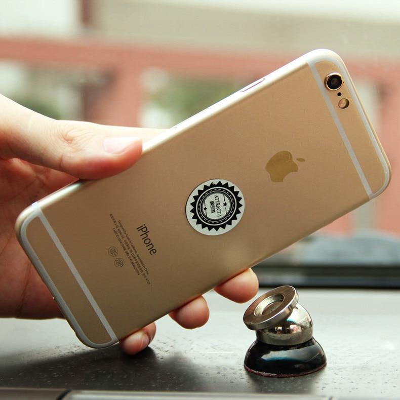 360 Degree Rotation Mini Car Phone Holder Magnet Dashboard Phone Holder For iPhone Samsung Smart Phone