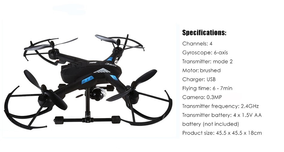Original JJRC H26WH Wifi FPV RC Quadcopter With 0.3MP Gimbal Camera 2.4G 4CH 6-Axis Selfie Barometer Height Hold RC Drone RTF