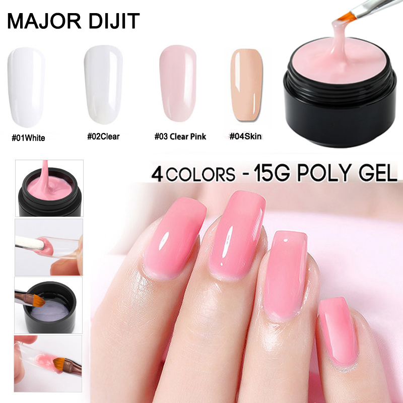 15ml Builder Gel Polish Pink White Clear Finger Nail Extension Thick UV Gel Nail Cover Camouflage UV Gel Varnish in Nail Gel from Beauty Health