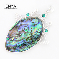 ENYA Xmas Gift Unique Abalone Shell Gems Pendant For Women & Men 100%Hand Made Jewelry Bijoux P0424