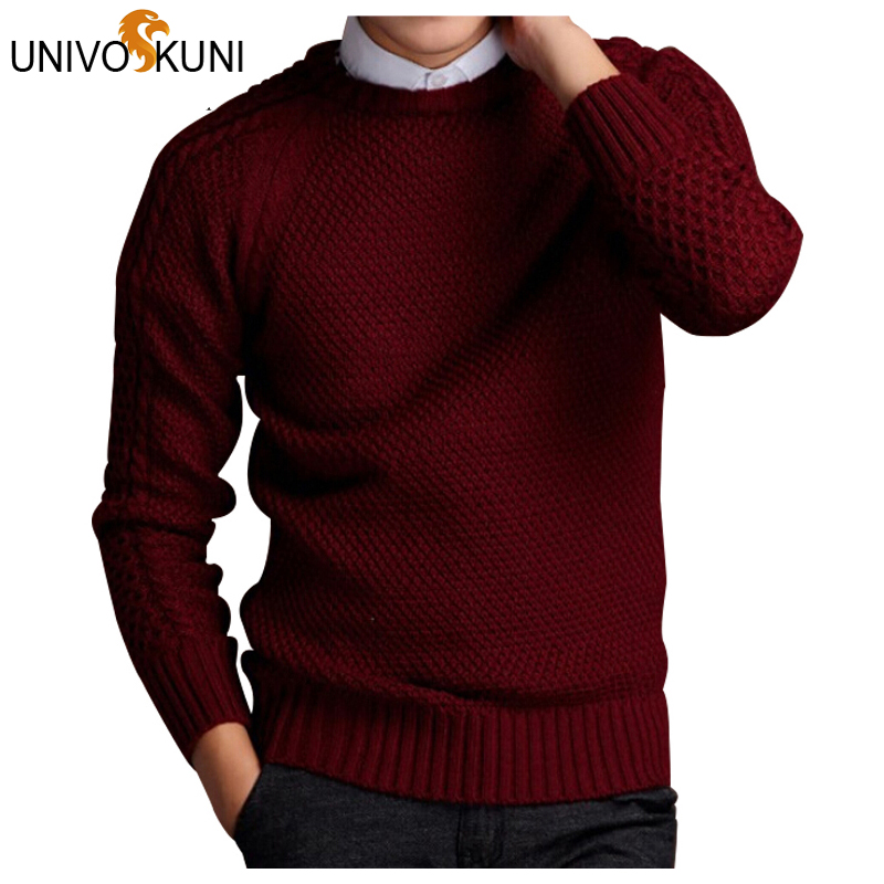 UNIVOS KUNI Autumn Fashion Men Sweaters Pullovers Knitting Thick Warm Designer Slim Fit Casual Knitted Man Knitwear Z1924