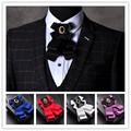 Cavalheiro arco Prendedor de gravata gravata borboleta Homens venda Quente ternos Formais comercial bow tie Clipe masculino cor sólida arco casamento laços para homens