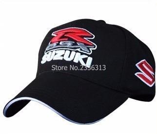 Prix pour Noir classique style embroideried S R pour SUZUKI casquette de baseball chapeau moto gp moto racing mode chapeaux casquettes