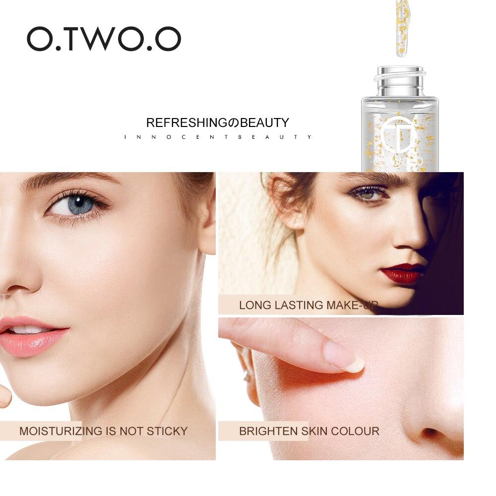Essencial de Cuidados com o Rosto Rosa Makeup Primer Hidratante Óleo