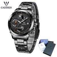 Cadisen Hot Watch Men Top Brand Luxury Sport Fashion Casual Quartz Watches Stainless Steel Waterproof Mans Timer Wristwatch 9018