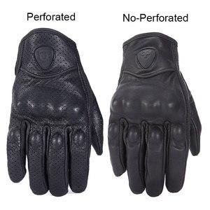 Image 2 - Мотоциклетные Перчатки Nordson, Водонепроницаемые кожаные, с закрытыми пальцами, в стиле ретро, для мужчин и женщин, защитное снаряжение