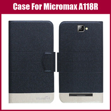 Лидер продаж! Для Micromax A118R холщовый трубчатый чехол высокого качества 5 цветов модный флип ультратонкий кожаный защитный чехол для телефона сумка