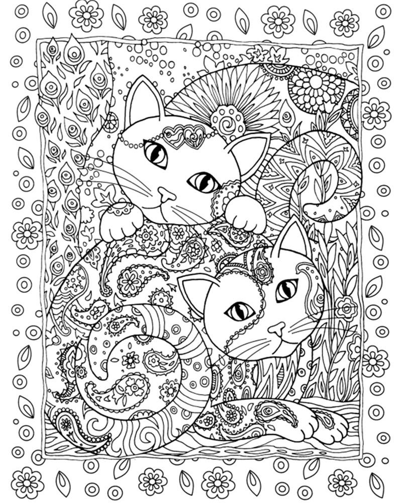 Stress relieving cats coloring - 24 Pages 18 5x21cm Colouring Book Creative Haven Creative Cats Coloring Books For Adults Stress Relieving Antistress Book Hot In Painting Paper From Home