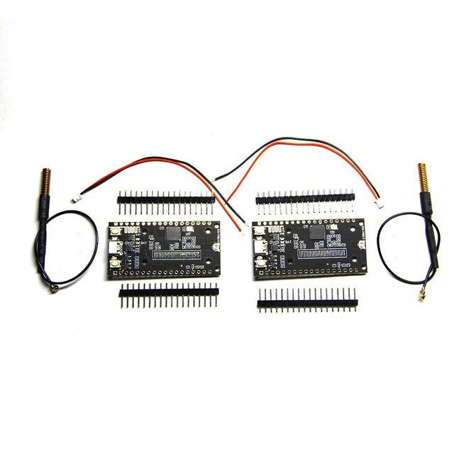 LILYGO®2 개/몫 sx1278 lora esp32 블루투스 와이파이 lora 인터넷 antena 개발 보드